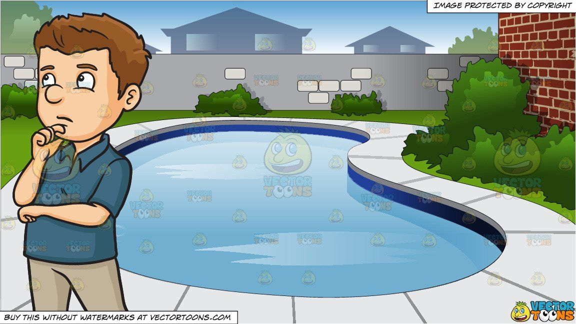 Pool background clipart banner library stock clipart #cartoon A Man Recalling And Thinking Of A Situation ... banner library stock