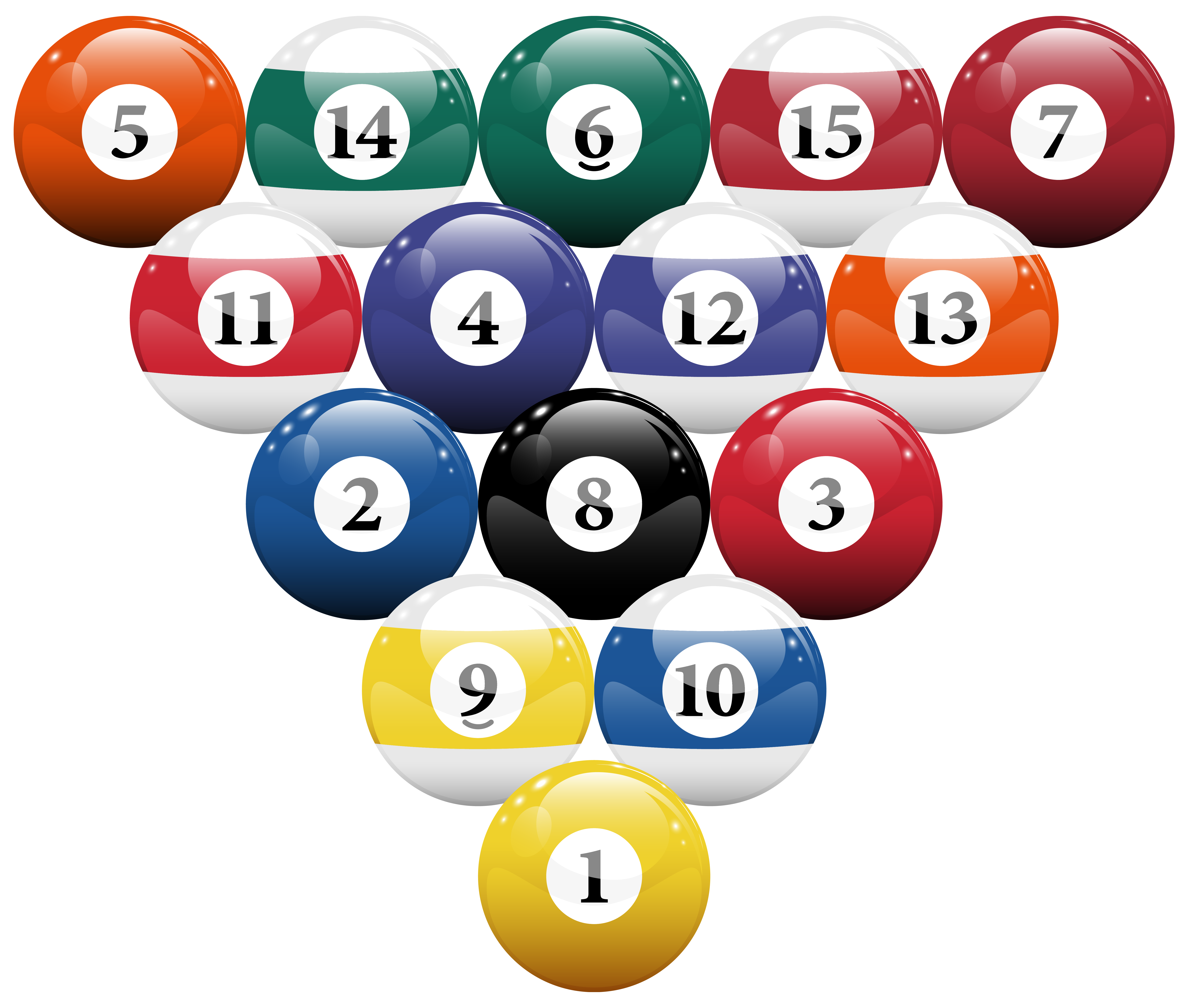 Pool of money clipart clip black and white stock Racked Billiard Pool Balls PNG Clipart - Best WEB Clipart clip black and white stock