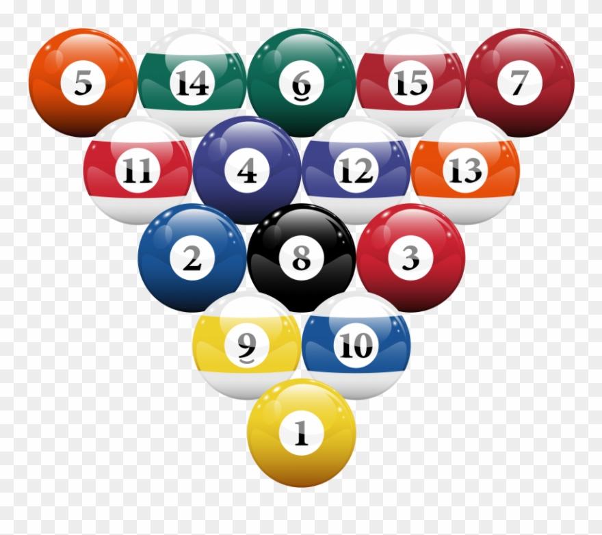Pool rack clipart jpg freeuse Download Racked Billiard Pool Balls Clipart Png Photo ... jpg freeuse