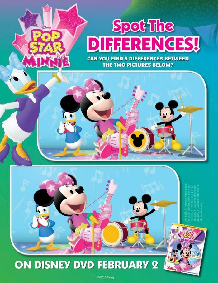 Pop star minnie clipart image transparent library Disney Mickey Mouse Clubhouse Pop Star Minnie Spot The ... image transparent library