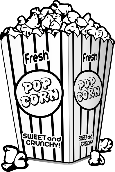 Popcorn black and white clipart clipart transparent stock Popcorn Clipart Black And White - 46 cliparts clipart transparent stock