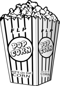Popcorn black and white clipart library Popcorn Black And White   Free download best Popcorn Black ... library