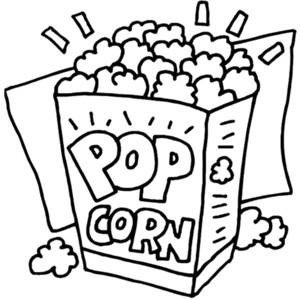 Popcorn black and white clipart jpg free Popcorn black and white popcorn black and white clipart ... jpg free