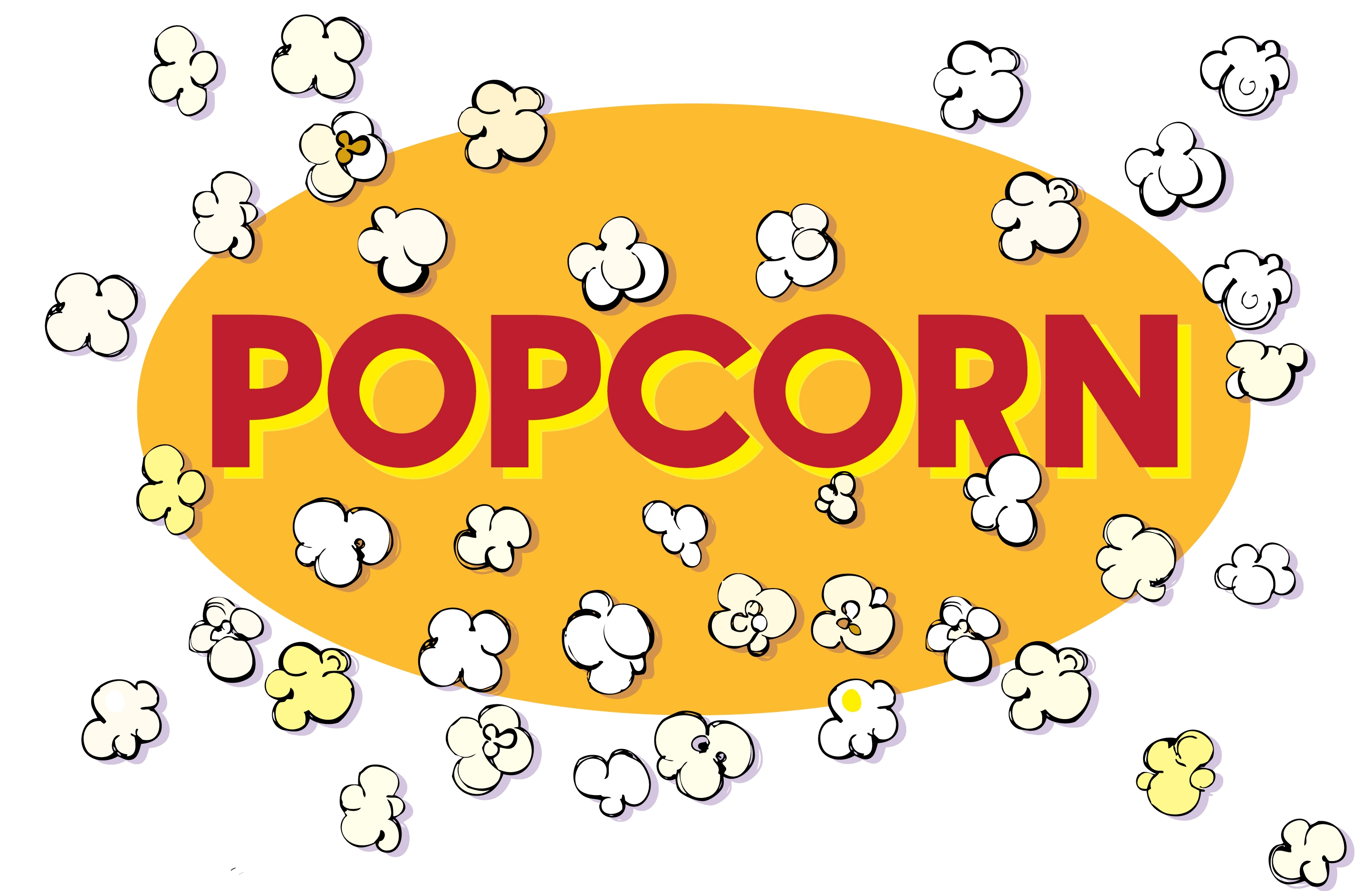 Popcorn popping clipart svg library Popcorn Black And White Popping Clipart Transparent Png - AZPng svg library