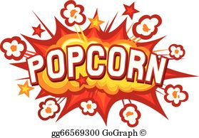 Popcorn popping clipart banner transparent stock Popcorn Clip Art - Royalty Free - GoGraph banner transparent stock