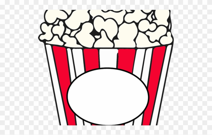 Popcorn popping clipart png free Popcorn Clipart Basket - Clip Art Of Pop Corn Black And ... png free