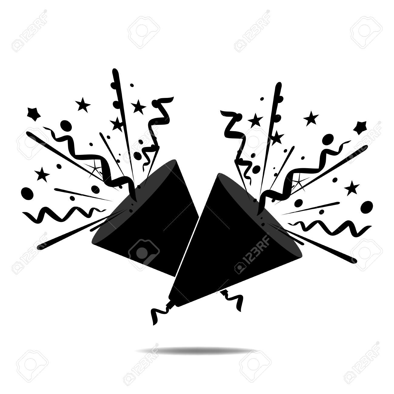 Poppers clipart black and white vector download free clipart party poppers - Google Search | icon | Party ... vector download