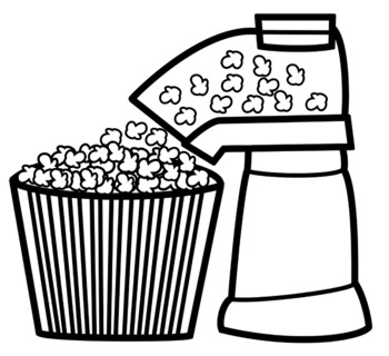 Poppers clipart black and white clip art library stock Popcorn Popper Clip Art clip art library stock