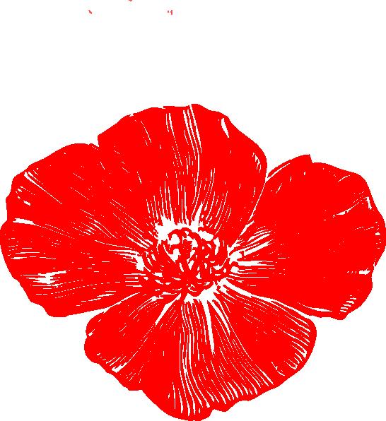 Poppy flower clipart svg library stock Red Poppy Clip Art at Clker.com - vector clip art online, royalty ... svg library stock