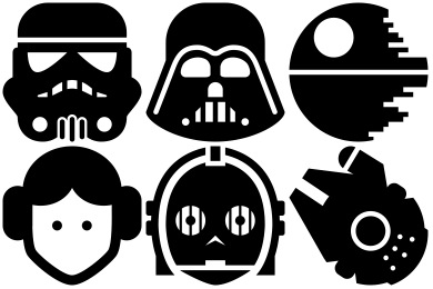 Popular fictional character clipart vector transparent download Sci-Fi Icons vector transparent download