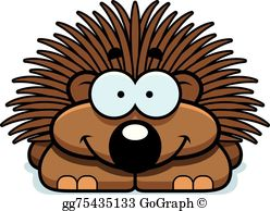 Porcuppine clipart picture royalty free library Porcupine Clip Art - Royalty Free - GoGraph picture royalty free library