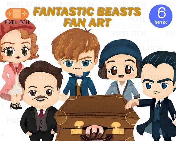 Porpentina goldstein clipart svg transparent download Fantastic Beast Fan Clipart Illustration - Newt Scamander ... svg transparent download