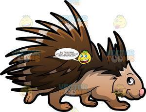 Porquipines clipart graphic royalty free An Endearing Porcupine graphic royalty free