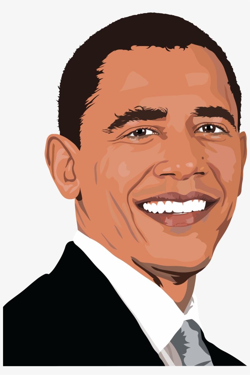 Portrail clipart svg free Realistic Barack Obama Portrait Icons Png - Barack Obama ... svg free