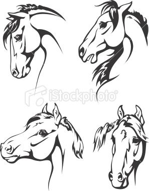 Portrait of horse head peeking out of vintage truck clipart image royalty free Black and white illustrations of horse heads. | horse ... image royalty free
