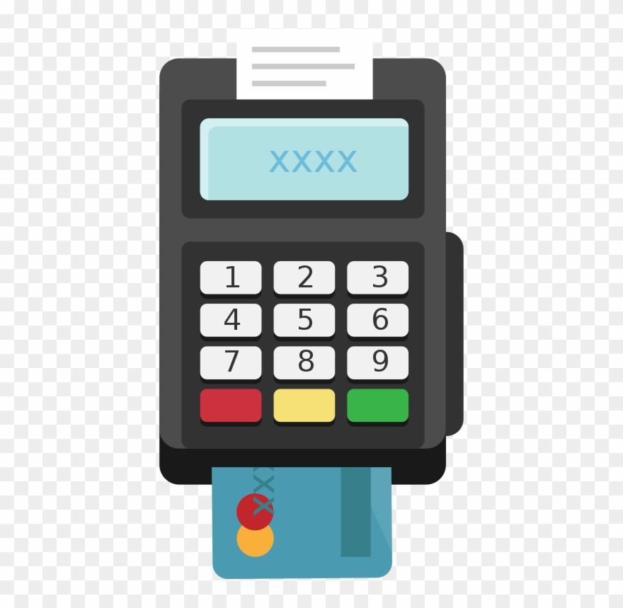 Pos image clipart clip art library library Card Terminal Pos Flat Icon Vector - Card Machine Icon Png ... clip art library library