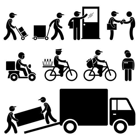 Post courier clipart newspaper online clip transparent Delivery Man Postman Courier Post Stick Figure Pictogram ... clip transparent