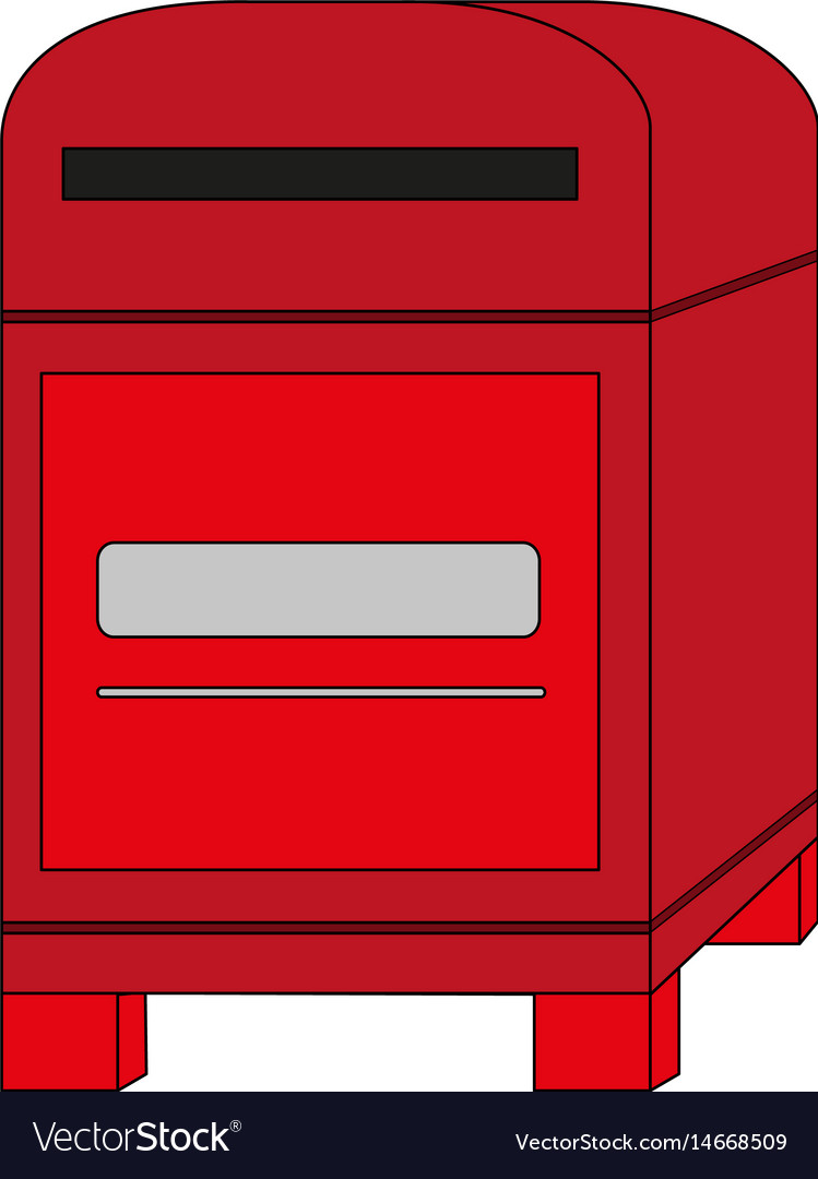 Post office box clipart vector black and white download Color image cartoon post office box vector black and white download