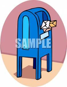 Post office drop box clipart clip art royalty free download A Post Office Drop Box - Clipart clip art royalty free download