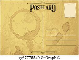 Postcard clipart free clipart freeuse Postcard Clip Art - Royalty Free - GoGraph clipart freeuse
