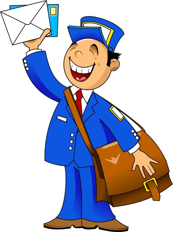 clipart postman postwoman postal transparent mail worker cartoon clip personnages purepng profesiones zezete2 puzzle centerblog oficios personne gens individu dibujos