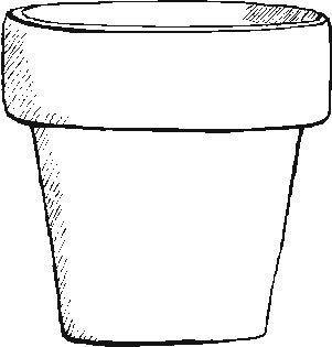 Pot black and white clipart transparent Flower pot black and white clipart 3 » Clipart Portal transparent