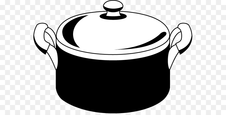 Pot black and white clipart vector library stock Stock Pots Black And White png download - 633*454 - Free ... vector library stock
