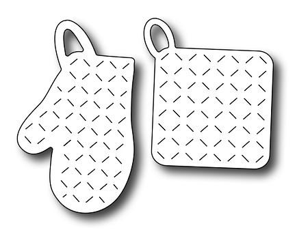 Pot holder clipart free stock Frantic Stamper Precision Die - Oven Mitt & Pot Holder free stock