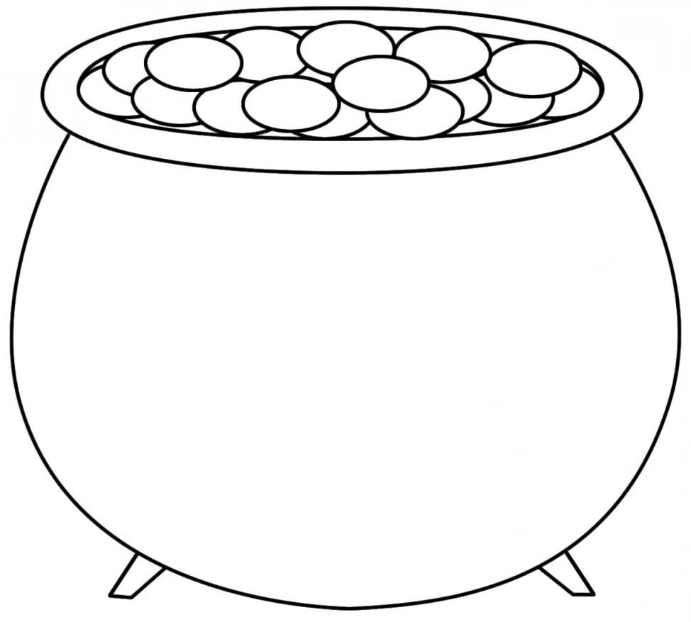 Pot of gold outline clipart png free library Pot of Gold Clipart - ClipartPost png free library