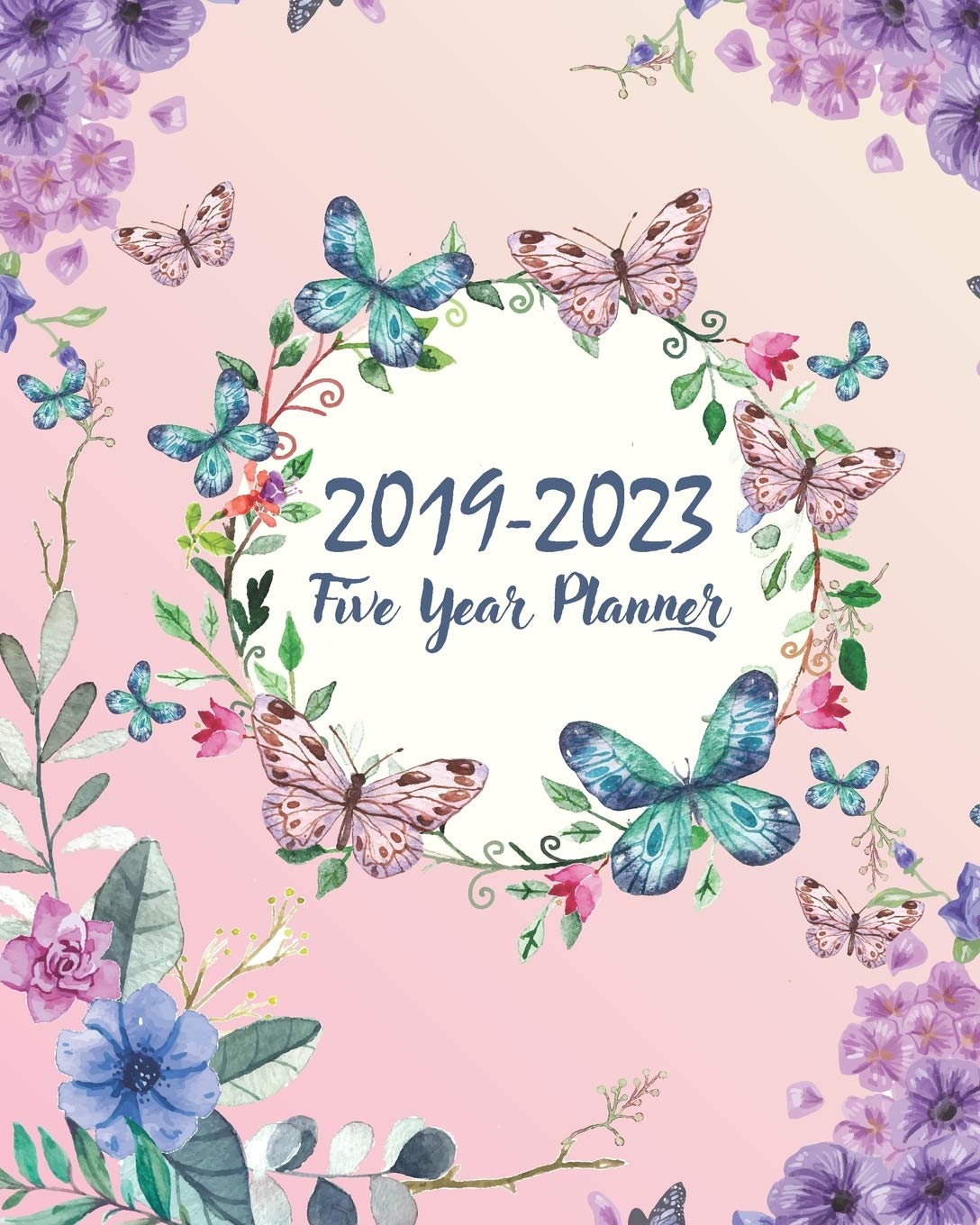 Potpourri of clipart for calendars and holidays books picture freeuse library 2019-2023 Five Year Planner: Butterfly Cover 60 Months ... picture freeuse library