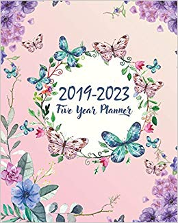 Potpourri of clipart for calendars and holidays books clip library 2019-2023 Five Year Planner: Butterfly Cover 60 Months ... clip library