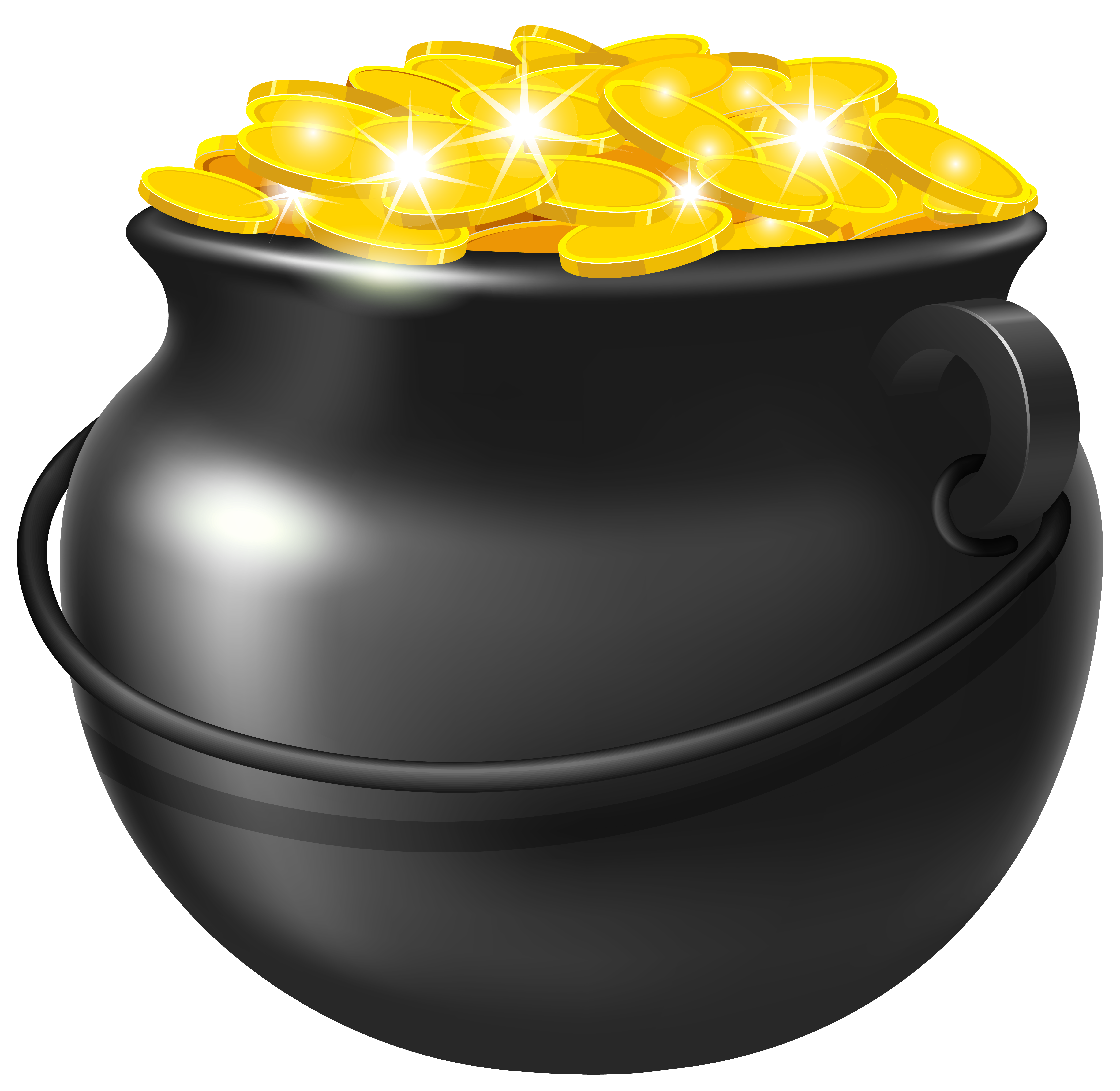 Pots of gold clipart picture transparent download Pin by Crystal Kostich on Camping | Pot of gold, St patricks ... picture transparent download