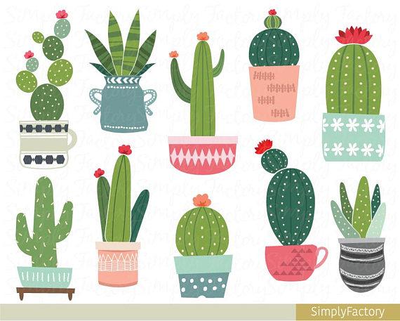 Potted cactus clipart clipart transparent download Cactus potted clip art, succulent clipart, tribal, cacti ... clipart transparent download