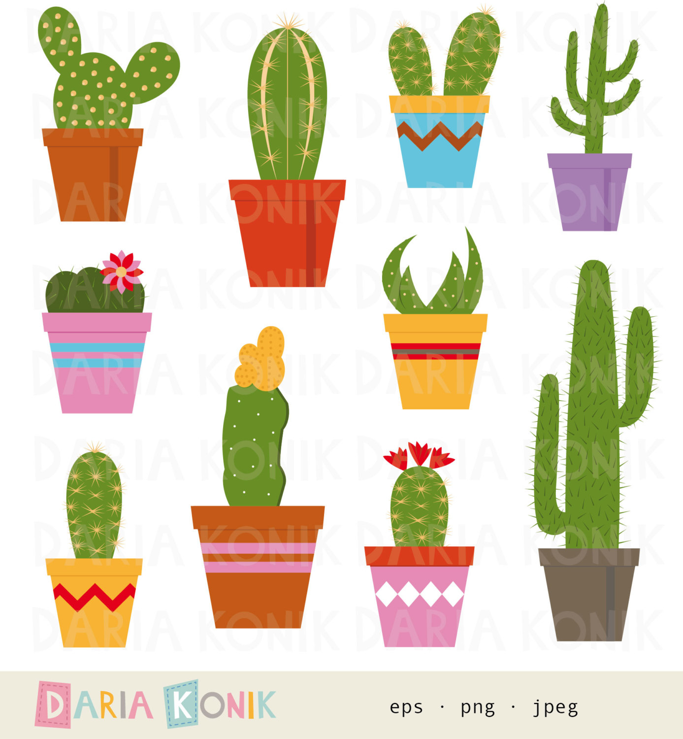 Potted cactus clipart png download Potted cactus clipart 9 » Clipart Station png download