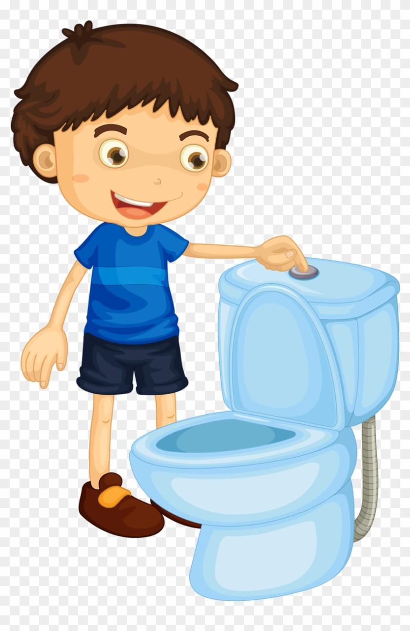 Pottie clipart transparent Preschool Potty Cliparts - Flush The Toilet Clipart, HD Png ... transparent