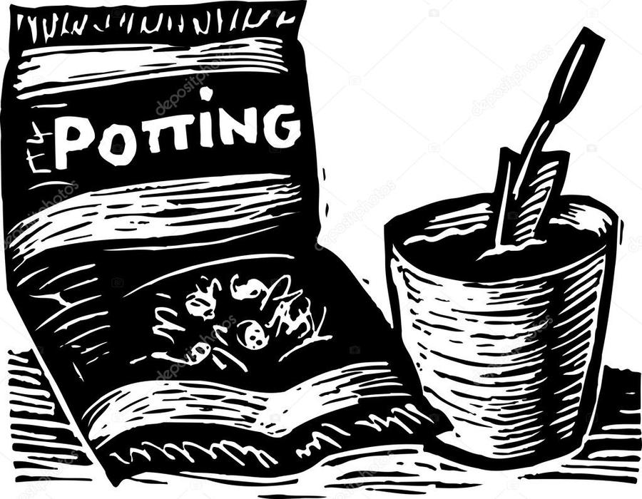 Potting soil clipart picture stock Download potting soil black and white clipart Potting soil ... picture stock