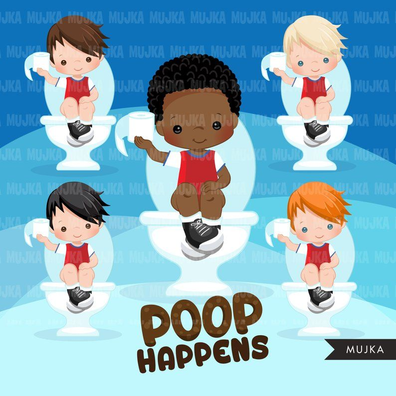 Potty time clipart picture royalty free Potty Training Clipart. Bathroom chores, toilet, toilet ... picture royalty free