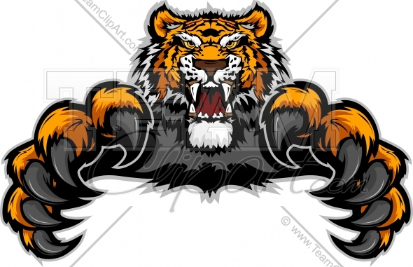 Pouncing clipart black and white Pouncing Tiger Clipart Image. Easy to Edit Downloadable ... black and white