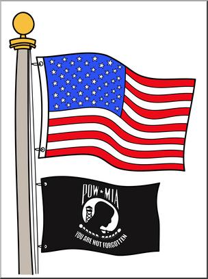 Pow mia flag clipart svg transparent stock Clip Art: Memorial Day: POW/MIA Flag Color 2 I abcteach.com ... svg transparent stock