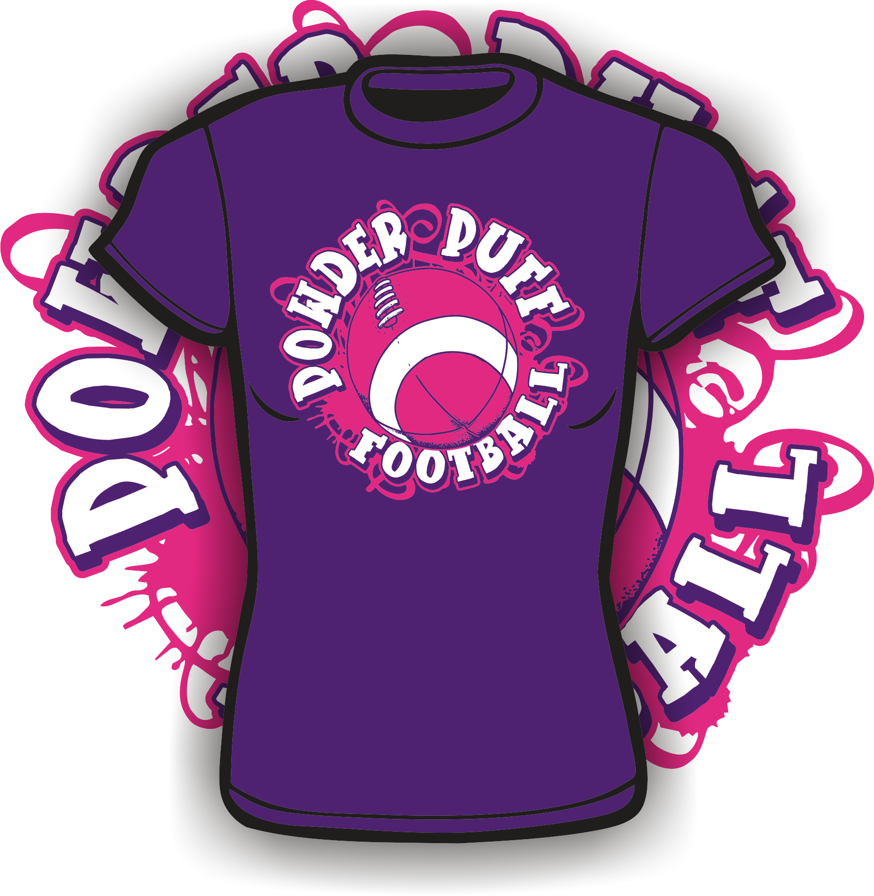 Powder puff football clipart picture transparent library Welcome to AKA Incorporated   Special-Tees Unlimited picture transparent library