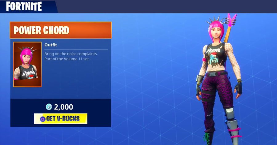 Power chord fortnite clipart svg royalty free library Get the incredible Power Chord Costume from Fortnite svg royalty free library