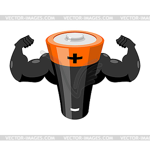 Power energy clipart png free stock Strong battery. Powerful accumulator. Power energy - vector ... png free stock