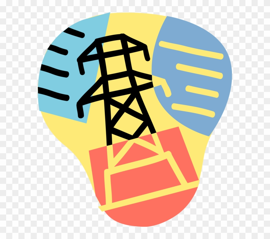 Power energy clipart svg royalty free download Vector Illustration Of Electricity Power Energy Transmission ... svg royalty free download