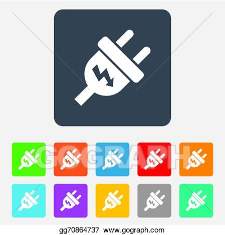 Power energy clipart picture freeuse download EPS Illustration - Electric plug sign icon. power energy ... picture freeuse download