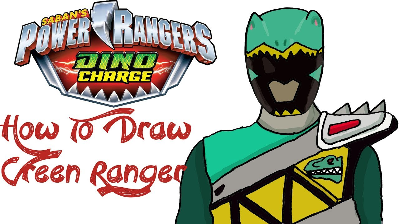 Power rangers dino charge ultra rangers clipart banner transparent coloring ~ Power Rangers Dino Super Charge Green Ranger ... banner transparent