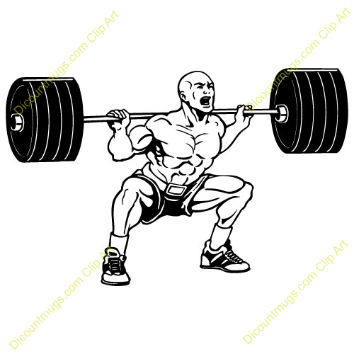 Weight lifting weights clipart picture black and white stock Free Guy Lifting Weights Clipart Custom Clip Art 13929 ... picture black and white stock