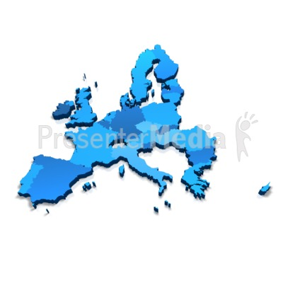 Powerpoint clip art europe map clip European Union 3D Map - Presentation Clipart - Great Clipart for ... clip