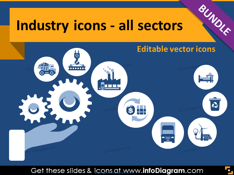Sector clipart clip art library library 64 Industry Editable Icons with Simple Flat Style clip art library library