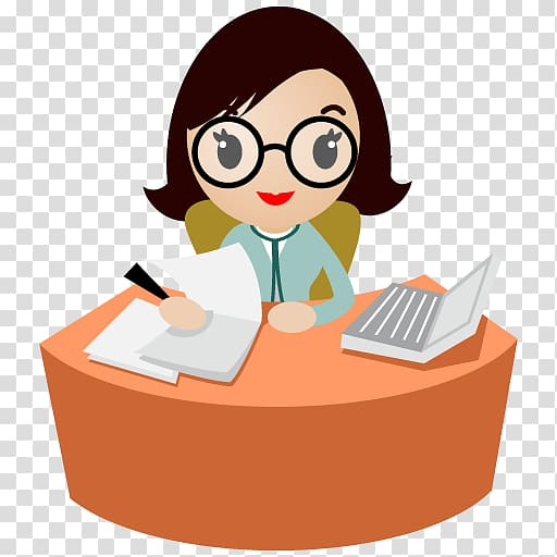Powerpoint cliparts female teacher with glasses royalty free library Woman sitting near desk beside laptop , human behavior ... royalty free library