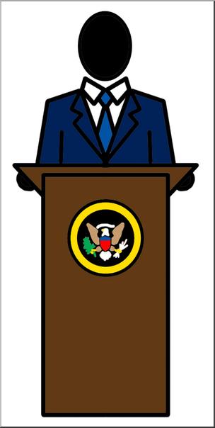 Presidant clipart vector stock Clip Art: People: President Color I abcteach.com | abcteach vector stock